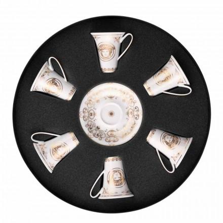 Rosenthal Versace Medusa Gala ensemble de tasses à expresso 6 pièces en porcelaine