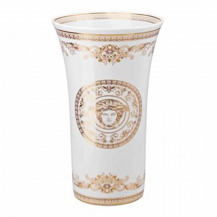 Rosenthal Versace Medusa Gala Vase design en porcelaine h 34cm