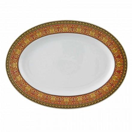 Rosenthal Versace Rouge Méduse Plaque design ovale en porcelaine