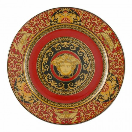 Rosenthal Versace Red Medusa Assiette plate 30cm en porcelaine