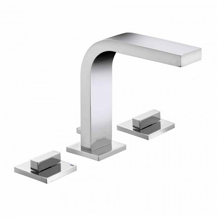 Robinet de lavabo de salle de bain 3 trous en laiton design de luxe - Etto