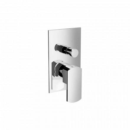 Mitigeur de douche ou de bain moderne avec inverseur Made in Italy - Sika
