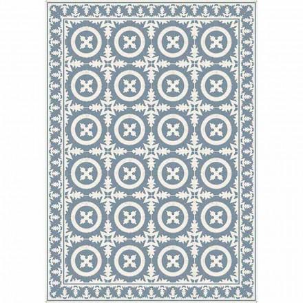 Chemin de table à motifs beige ou bleu en Pvc et polyester moderne - Bondo
