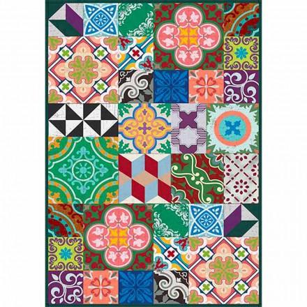 Chemin de table design coloré en Pvc et polyester avec fantaisie - Timio