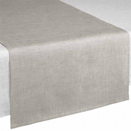 Chemin de table en lin naturel 50x150 cm Fabriqué en Italie - Blessy