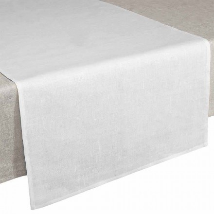 Runner de Table 50x150 cm en Pur Lin Blanc Créme Made in Italy – Blessy