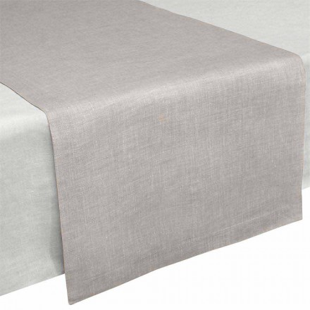 Chemin de table en pur lin naturel 50x150 cm Made in Italy - Poppy