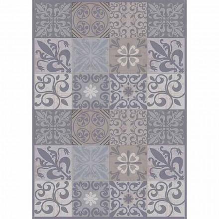 Chemin de table moderne à motifs gris ou noir en PVC et polyester - Pita