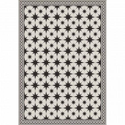 Chemin de table design en PVC et polyester à motifs rectangulaires - Osturio