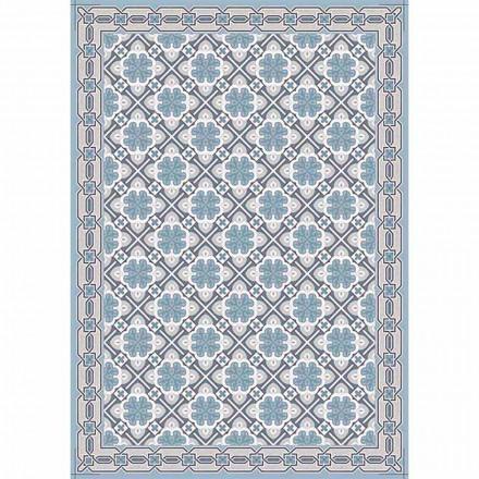 Chemin de table design à motifs avec base rouge ou bleu moderne - Pétunia