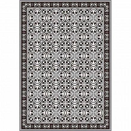 Chemin de table en PVC et polyester design noir, bleu ou gris - Lindia
