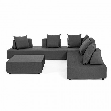 Salon d'angle extérieur design moderne en tissu Homemotion - Benito