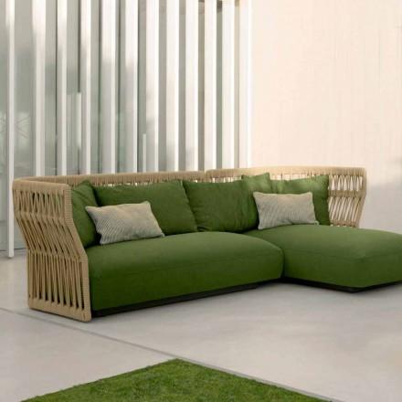 Salon de jardin, canapé et tables basses Cliff Talenti, design Palomba