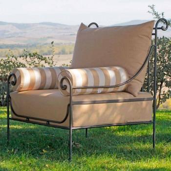 Salon de jardin artisanal avec structure en fer Made in Italy - Lisotto