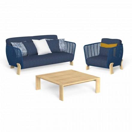 Salon de jardin avec canapé, fauteuil et table basse de luxe - Argo by Talenti