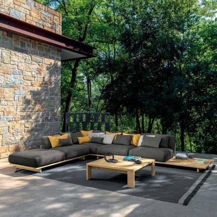 Salon de jardin avec pouf et table basse en bois de haute qualité - Argo par Talenti