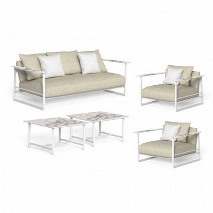 Salon de jardin de luxe, canapé, fauteuils et tables basses - Riviera by Talenti