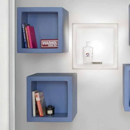 Etagère design en forme de cube de couleur moderne Slide Open Cube, fabriquée en Italie