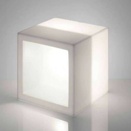 Tablette lumineuse design moderne Slide Open Cube, produite en Italie