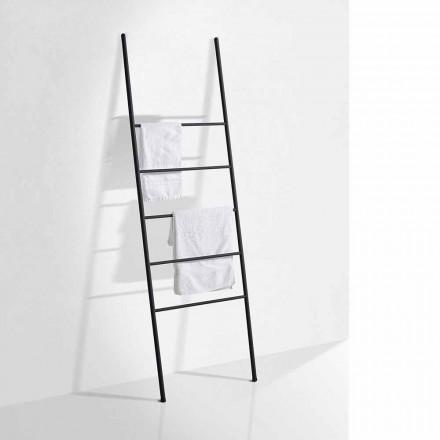 Échelle de serviette design moderne en métal blanc ou noir - Oppalà