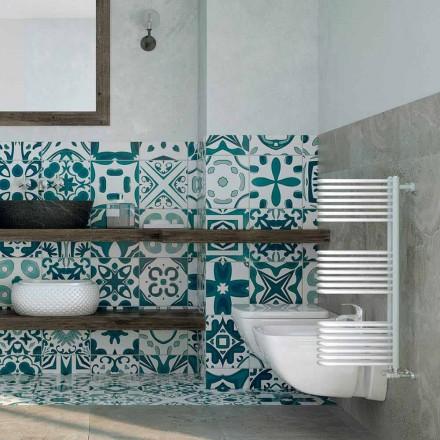 Sèche-serviette blanc à eau chaude Corner fait en Italie Scirocco H