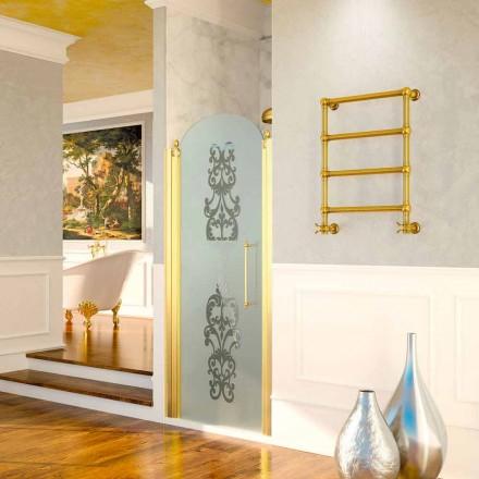 Sèche-serviette électrique or Scirocco H Caterina en laiton de design