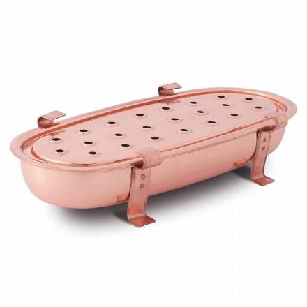Réchaud de table pour pots en cuivre Made in Italy 45x23 cm - Mariaelena