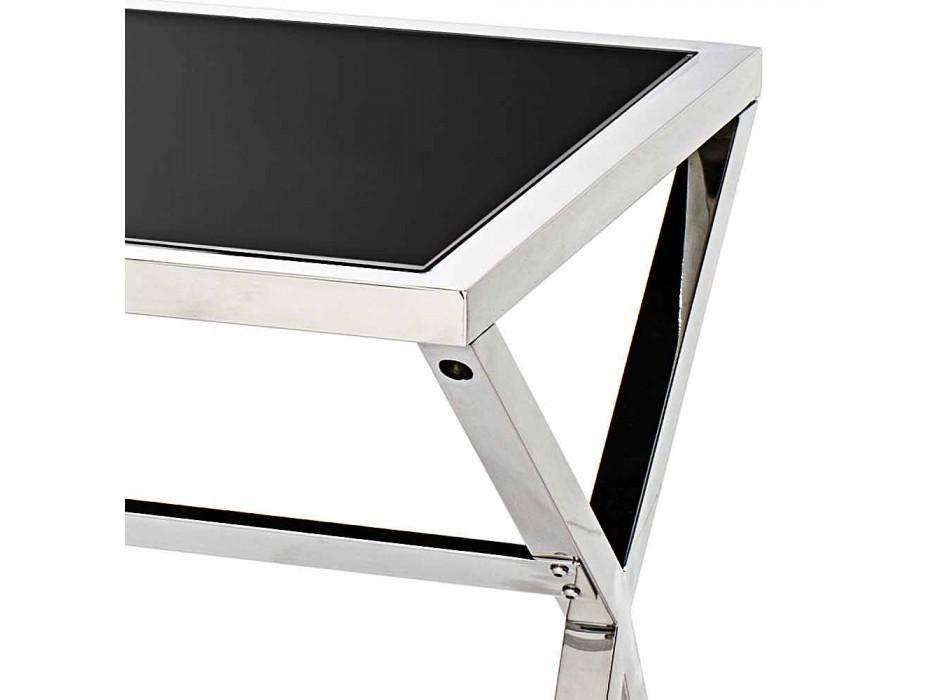 la conception et l'écriture en acier brillant verre noir L120xH75cm Millon