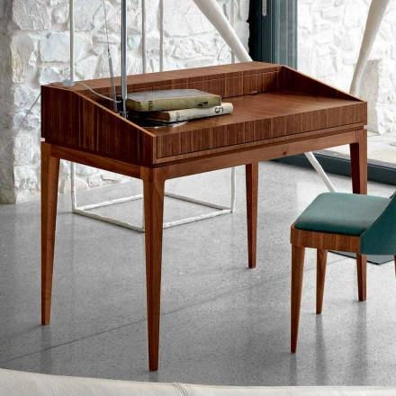 Sécretaire de design moderne en bois de noyer, L105 x P65 cm, Acario