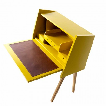 Bureau en bois multicouche design Grilli Hemingway made in Italy