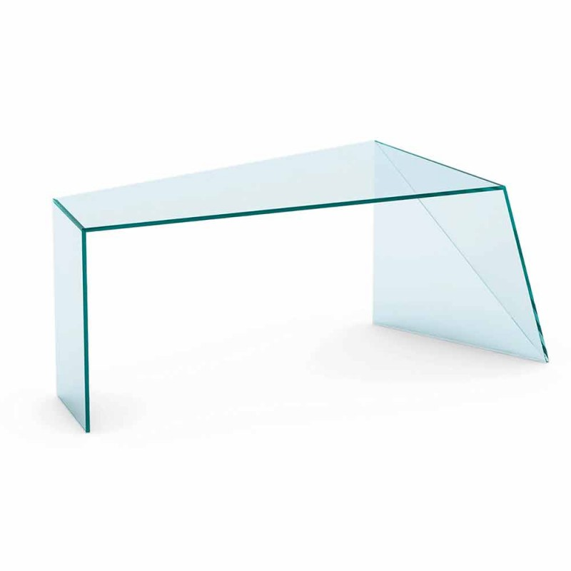 Bureau de bureau design moderne en verre extralight fabriqué en Italie - Rosalia
