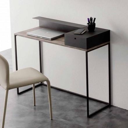 Bureau moderne en métal et mélaminé avec tiroir Made in Italy - Iridio