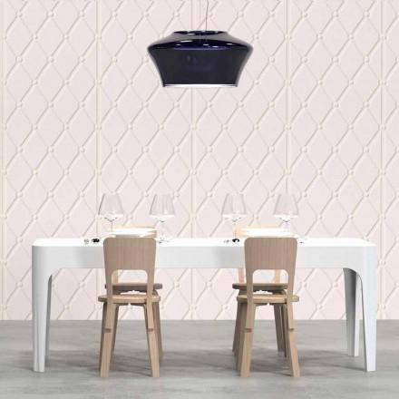 Table de salle à manger rectangulaire de design moderne Merlot