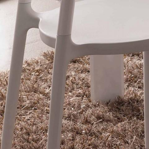 Chaise blanche au design moderne Derulo