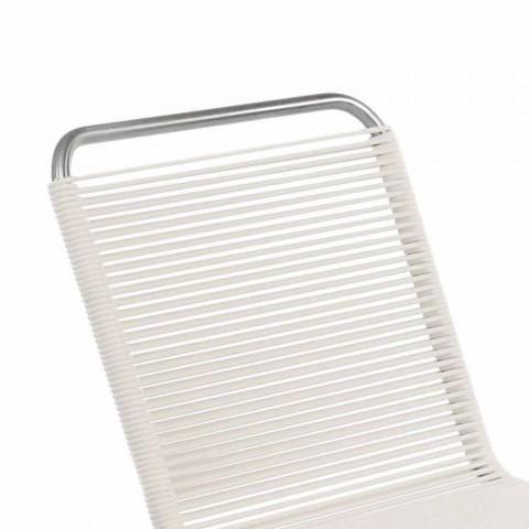Chaise d'extérieur design blanc en acier et PVC Made in Italy - Madagascar