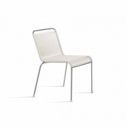 Chaise design d'extérieur en acier et PVC Made in Italy - Madagascar