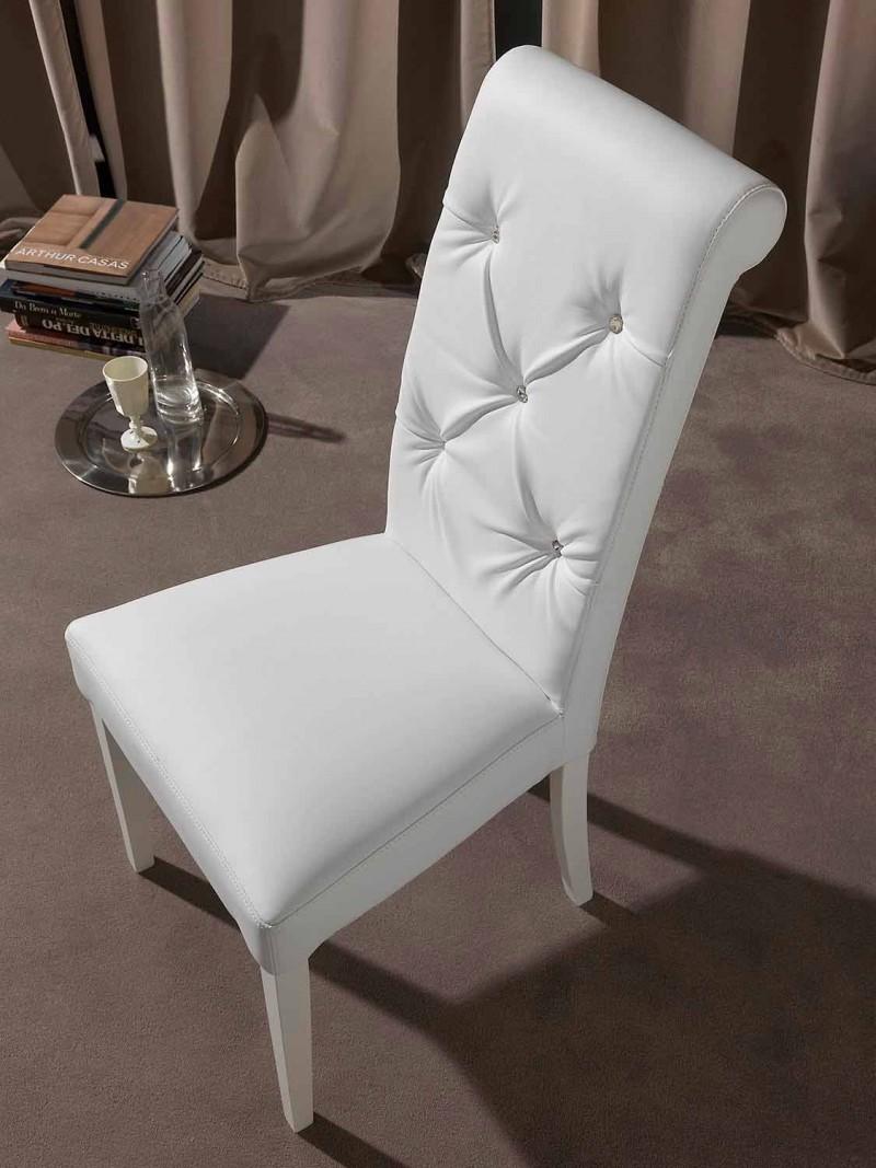 Chaise classique avec traitement capitonné, avec diamants - Diana