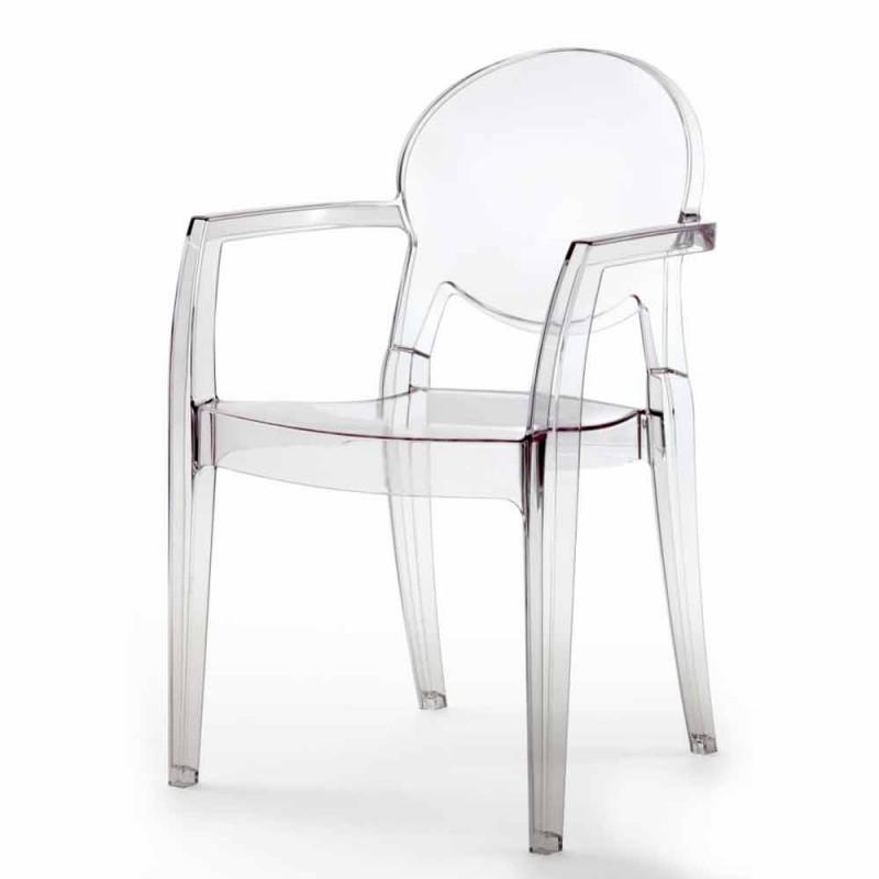 Chaise Entièrement en Polycarbonate et avec Bras - Dalila