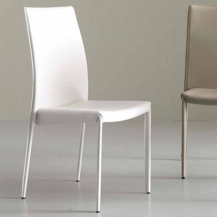 Chaise Complètement Recouverte en Simili Cuir, Moderne – Eloisa
