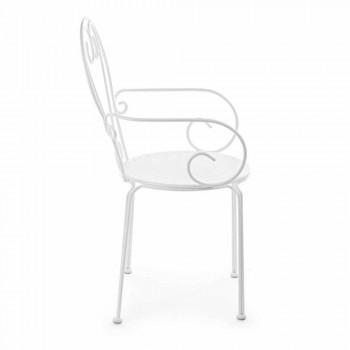 Chaise d'extérieur avec accoudoirs Design de luxe élégant en acier - Charm
