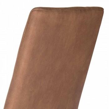 Chaise design à dossier haut Becca, fabriquée en Italie