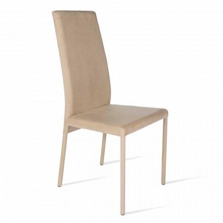 Chaise avec dossier haute de design moderne Becca, produite en Italie
