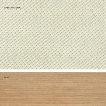 Chaise de cuisine design en bois et tissu fabriqué en Italie, Egizia