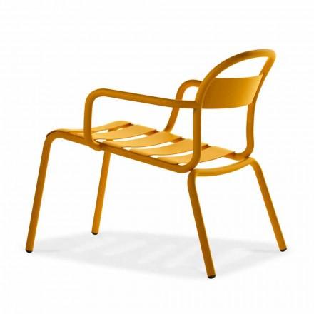Chaise longue d'extérieur empilable en aluminium Made in Italy, 2 pièces - Shyla