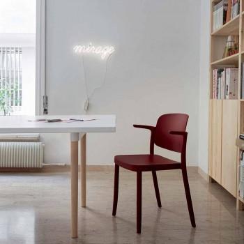 Chaise d'extérieur empilable en polypropylène Made in Italy, 4 pièces - Bertina