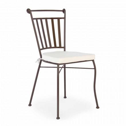 Chaise design d'extérieur en acier avec ou sans accoudoirs de jardin - Ionic