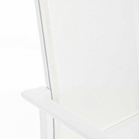 Chaise d'extérieur en aluminium avec accoudoirs Homemotion - Casper Design
