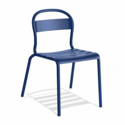 Chaise d'extérieur empilable en aluminium Made in Italy, 4 pièces - Ulyssa