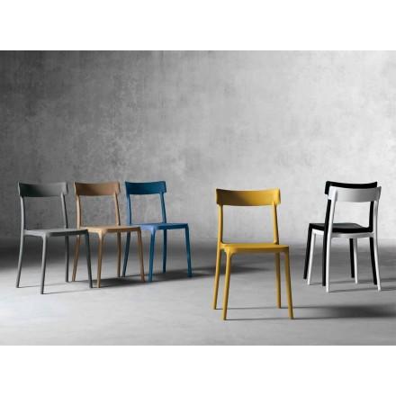 Chaise design d'intérieur / d'extérieur en polypropylène fabriquée en Italie, Peia