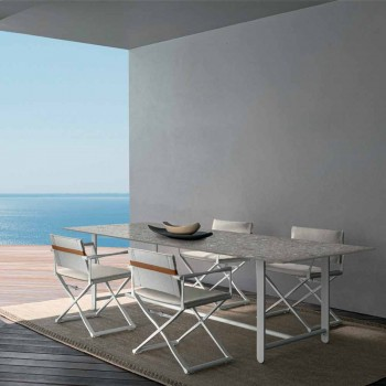 Chaise d'extérieur pliante avec accoudoirs, en aluminium - Riviera by Talenti